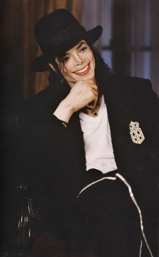 michael jackson wallpaper containing a fedora and a well dressed person called Michael Jackson - HQ Scan - Barbara Walters Interview ' 97