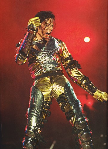 Michael Jackson wallpaper possibly containing a breastplate and a concert called Michael Jackson - HQ Scan - HIStory Tour