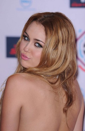 Miley Cyrus Backless Dress