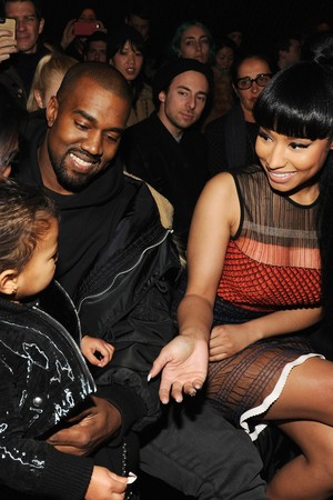 Nicki Minaj meeting North West