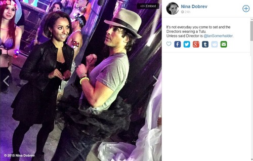 Ian Somerhalder and Nina Dobrev wallpaper probably with anime called Nina's Tweet
