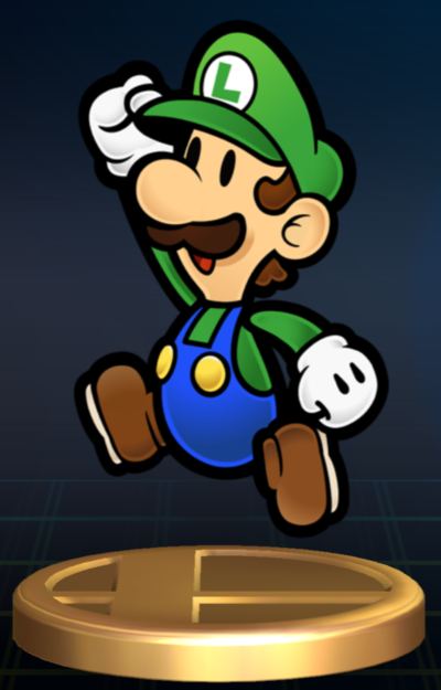 Mario images Paper Luigi Trophy (Brawl) wallpaper and background photos