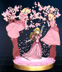 Princess Peach wallpaper containing a bouquet called Peach Trophy (Brawl)