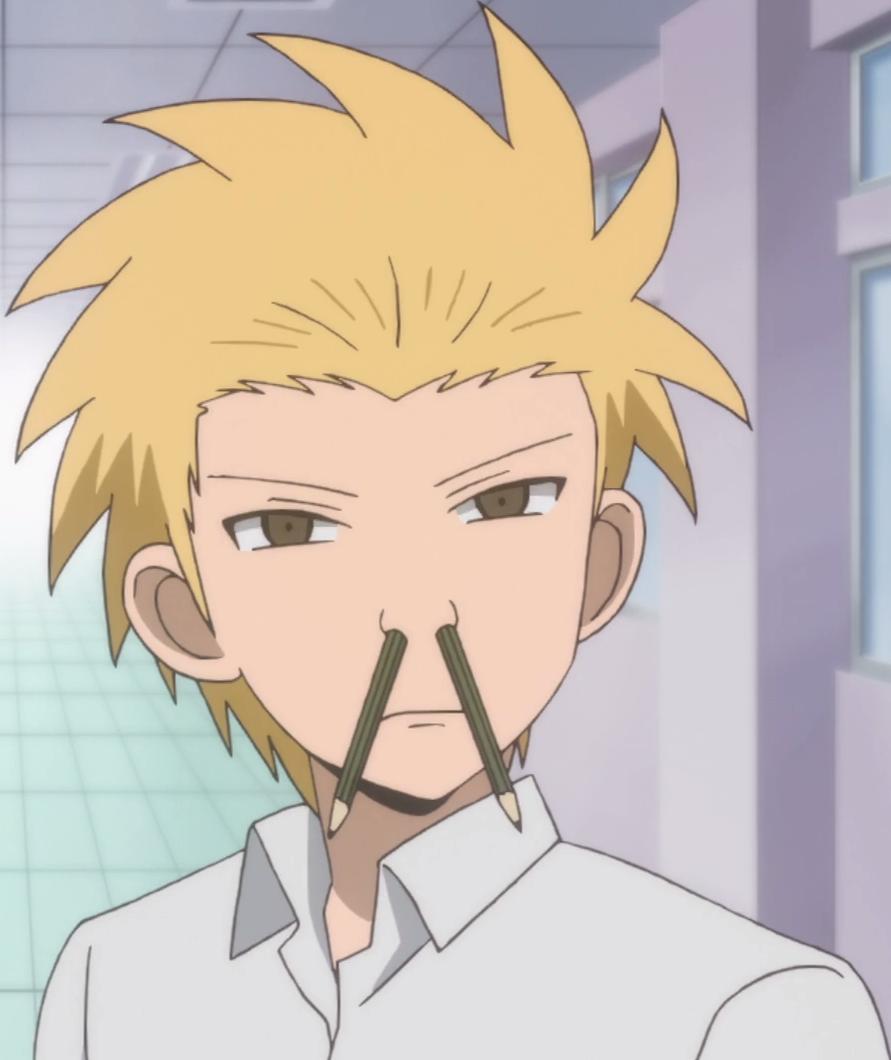 Danshi Koukousei No Nichijou Pencil mustache - Dans...