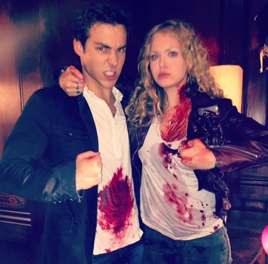 Penelope Mitchell and Chris Wood