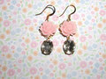roze bloem Earrings