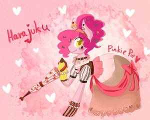Pinkie in Harajuku style