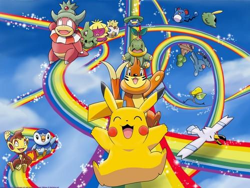 Pokémon achtergrond containing anime called Pokémon poster!