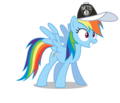 Rainbow Dash wearing a Brooklyn Nets cap