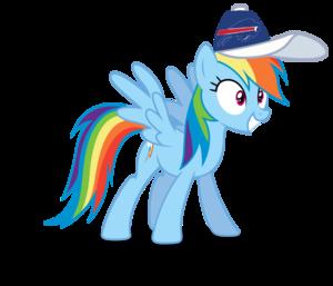 इंद्रधनुष Dash wearing a Buffalo Bills टोपी