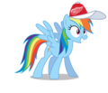 Rainbow Dash wearing a Detroit Red Wings cap