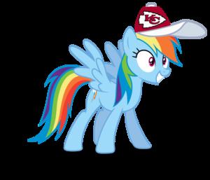 इंद्रधनुष Dash wearing a Kansas City Chiefs टोपी