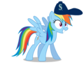 Rainbow Dash wearing a Seattle Mariners cap