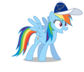 Rainbow Dash wearing a St. Louis Blues cap