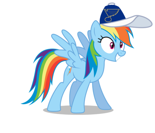 Warriors Of The Rainbow Online Subtitrat Hd: Rainbow Dash Images Rainbow Dash Wearing A St. Louis Blues