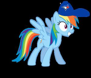 इंद्रधनुष Dash wearing a Toronto Blue Jays टोपी