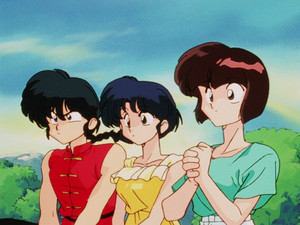 Ranma, Akane, and Nabiki (Ranma 1/2 anime) らんま½