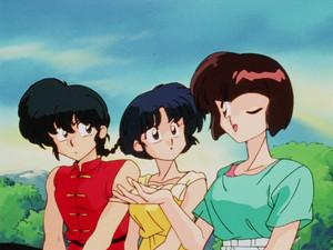 Ranma, Akane, and Nabiki (らんま½ アニメ)