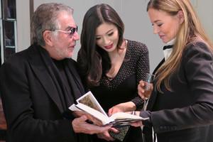 Rebecca Wang, Eva Cavalli and Roberto Cavalli at the Roberto Cavalli spring fashion toon