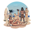 Red Lotus At The Beach - avatar-the-legend-of-korra fan art