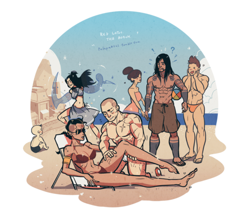 Avatar: The Legend of Korra wallpaper probably with anime called Red Lotus At The Beach