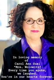 Rest in peace, Carol Ann Susi, AKA Mrs. Wolowitz.