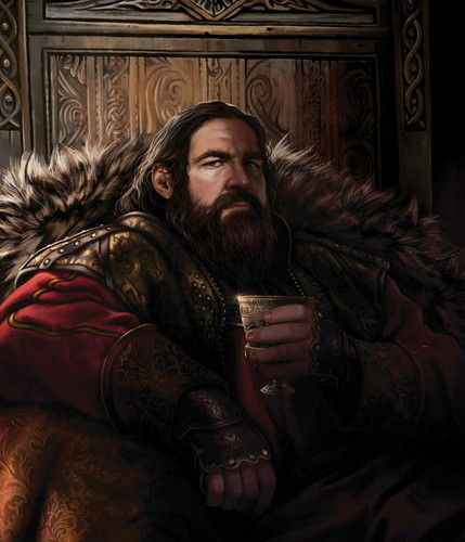 A Song of Ice and Fire wallpaper with a fur coat called Robert Baratheon
