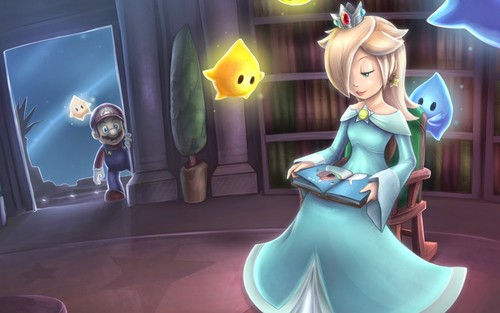 acak wallpaper titled Rosalina and Mario