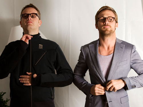 Ryan শিশু-হংসী দেওয়ালপত্র containing a business suit and a well dressed person titled Ryan Gosling, Nicolas Winding Refn