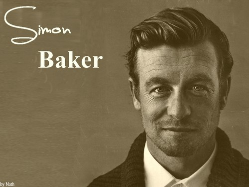 साइमन बेकर वॉलपेपर probably with a business suit titled SIMON BAKER