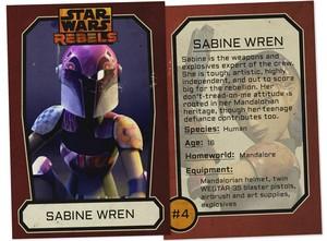 Sabine Wren Trading Card