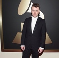 Sam Smith on the red carpet at the Grammys