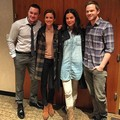 Sam Underwood, Jessica Stroup and Shawn Ashmore on set of The Following Season 3