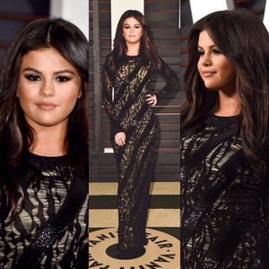 Selena Gomez at the Vanity Fair Oscar Party 2015