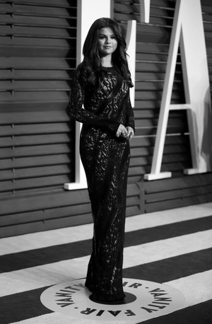 Selena Gomez at the Vanity Fair Oscar Party 2015