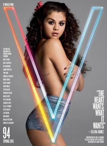 Selena Gomez wallpaper entitled Selena on the cover of the V94 Spring 2015 Issue of V Magazine