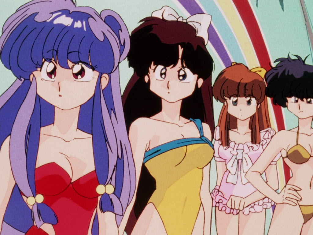 Shampoo, Ukyo, Tsubasa, and Kodachi