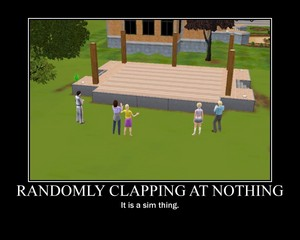 Sims 3 Demotivational Poster