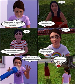 Sims 3 lil Horror Story