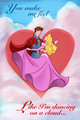 Sleeping Beauty Valentine's araw Card