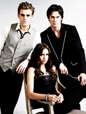 Stefan, Damon and Elena