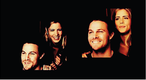 Stephen Amell & Emily Bett Rickards achtergrond titled Stephen and Emily