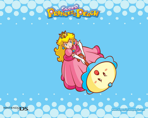 Princess Peach wallpaper possibly containing anime called Super Princess Peach Wallpaper