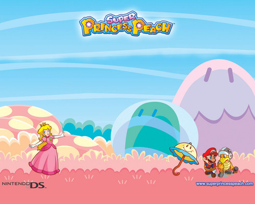 Princess Peach wallpaper probably containing a hard candy, a venn diagram, and anime titled Super Princess Peach Wallpaper