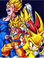 Super Saiyans and Super Hedgehogs - sonic-the-hedgehog fan art