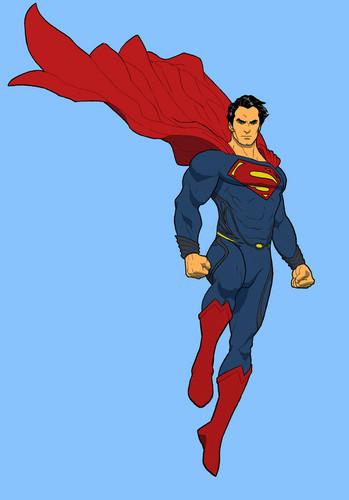 Superman Hintergrund titled Superman - Fan Art