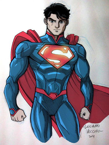 Superman wallpaper with Anime titled Superman - fan Art