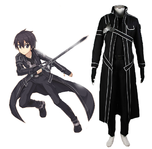 Sword Art Online wallpaper with a surcoat called Sword Art Online SAO Beater Black Swordsman Kirigaya Kazuto Kirito Cosplay Costume