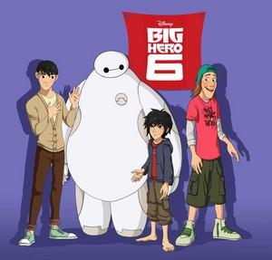 Tadashi, Baymax, Hiro and Fred