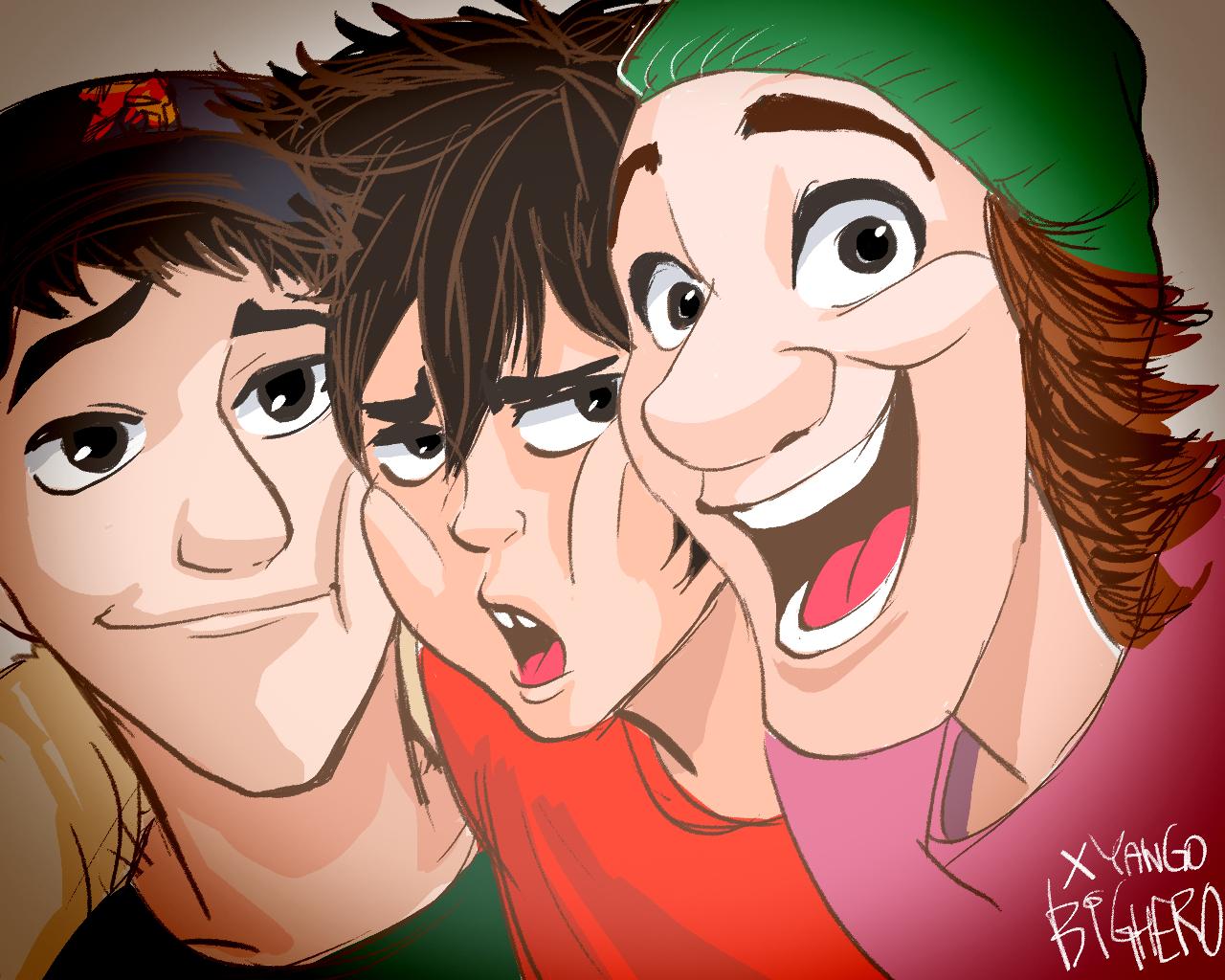 Tadashi, Hiro and Fred